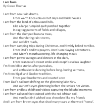 I Am From by Gwen Thomas