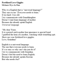 Fertilized Love Giggles by Melanie Hyo-In Han